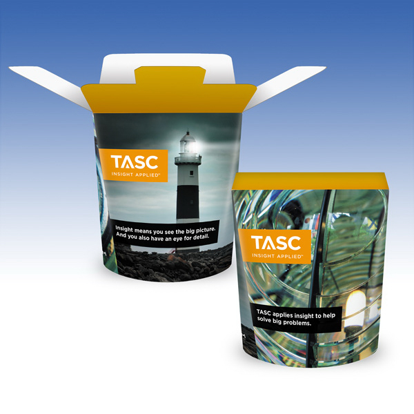 Customized Visstun®-18oz-Heavy Duty PaperCold FoldTop® Container