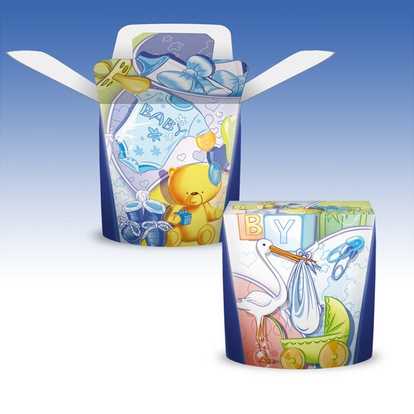Customized 4 oz-Heavy Duty Paper Hot FoldTop® Container