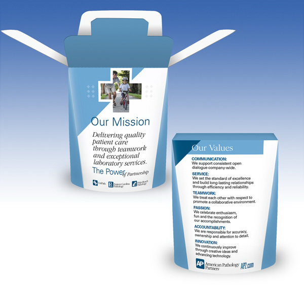 Promotional Visstun®-10oz-Heavy Duty Paper Hot FoldTop® Container