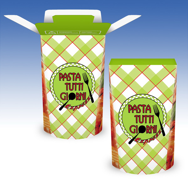 Custom Visstun®-28oz-Heavy Duty Paper Hot FoldTop® Container