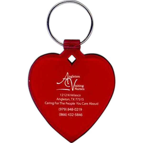 Printed Heart Key Ring