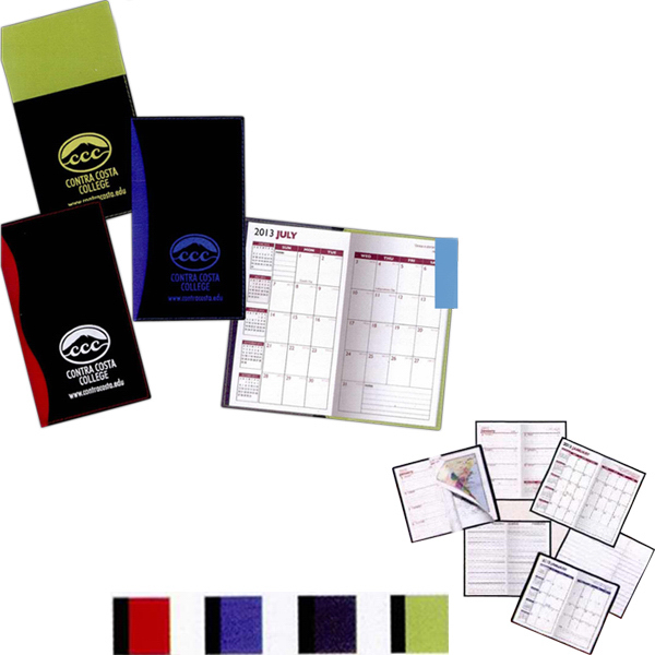 Imprinted France Soft Cover 2-Tone Vinyl Designer Tally Book