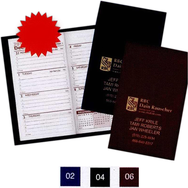 Promotional Ireland Soft Cover Vinyl Sewn Designer Weekly Series Planner