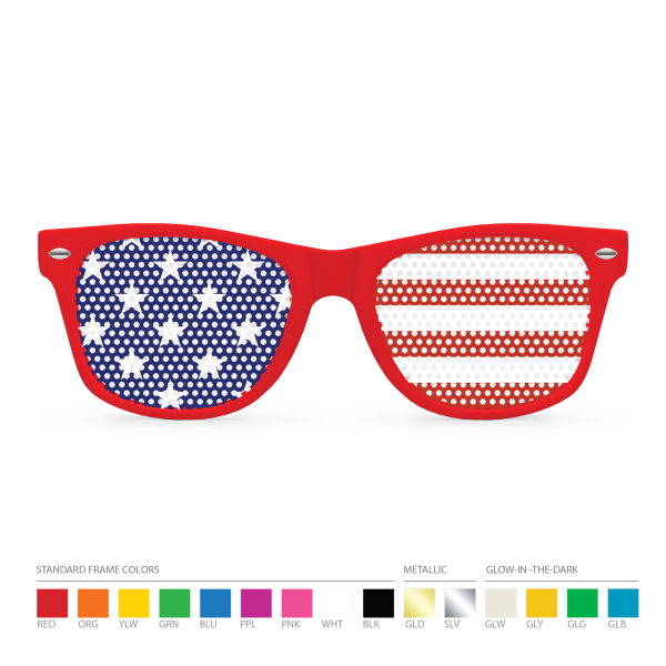 Promotional Pinhole Red Wayfarer Sunglasses (clear lens) NO MOQ