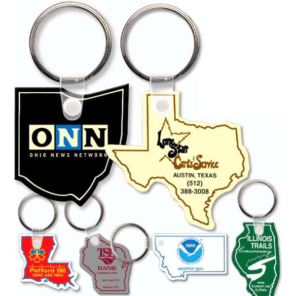 Personalized Key Tag - Oklahoma - Spot Color