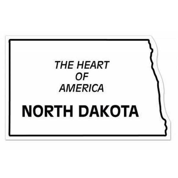 Personalized Magnet - North Dakota - Full Color