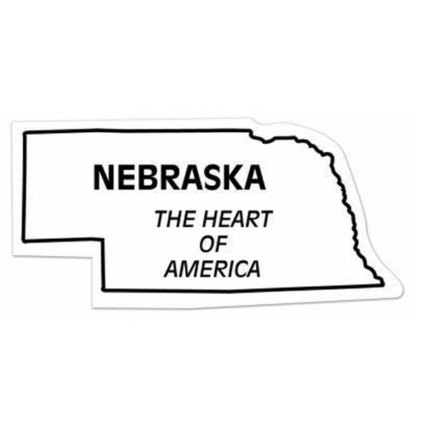 Imprinted Magnet - Nebraska - Full Color
