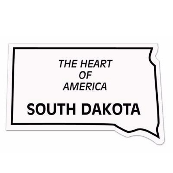 Customized Magnet - South Dakota - Full Color