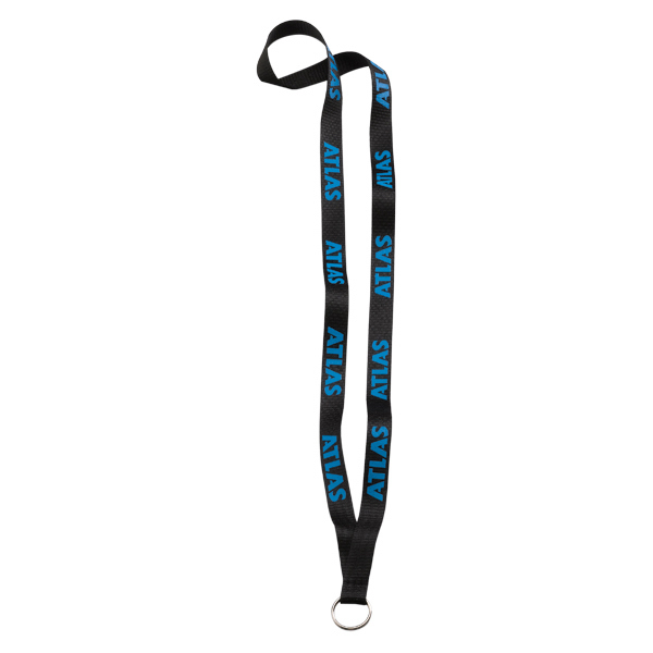 "Custom 1/2"" Polyester Lanyard w/ Metal Split-Ring"
