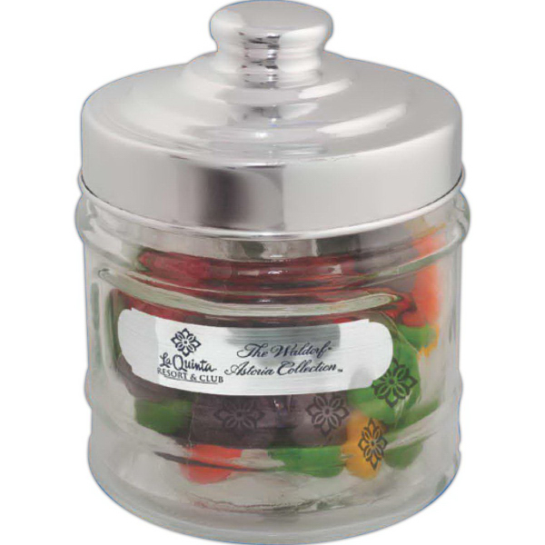 Customized Printed Candy Apothecary Jar - Candy Coated Chocolate Mints