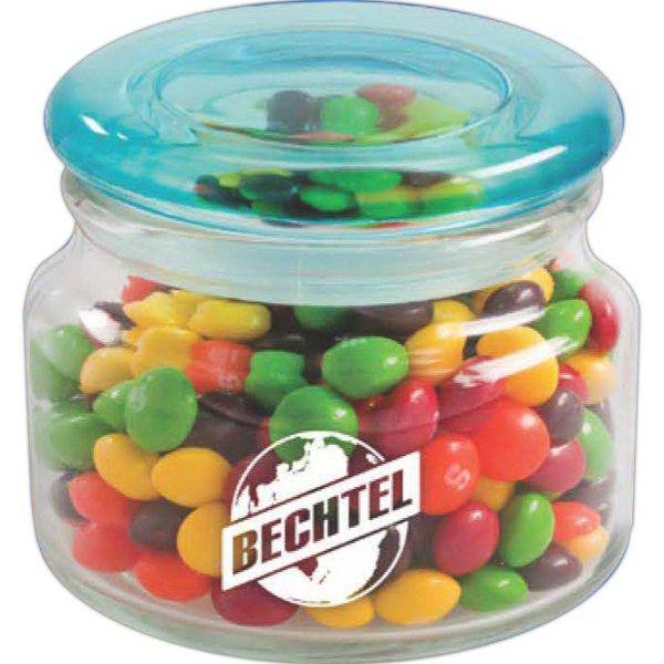 Printed Color Top Candy Jar - Gourmet Jelly Beans