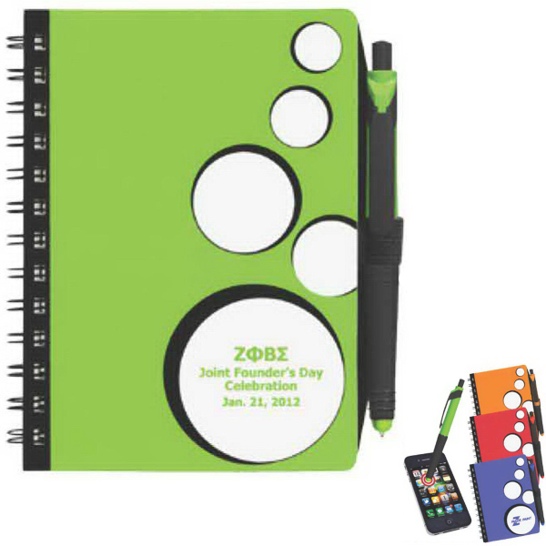 Printed SpotLight Notebook & Stylus/ Pen
