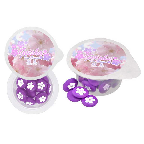 Promotional Small 4 Color Cup of Candy - Sugar Free Mints