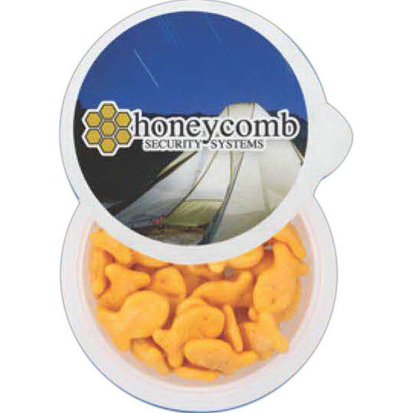 Promotional Large 4 Color Cup of Snacks - Trail Mix