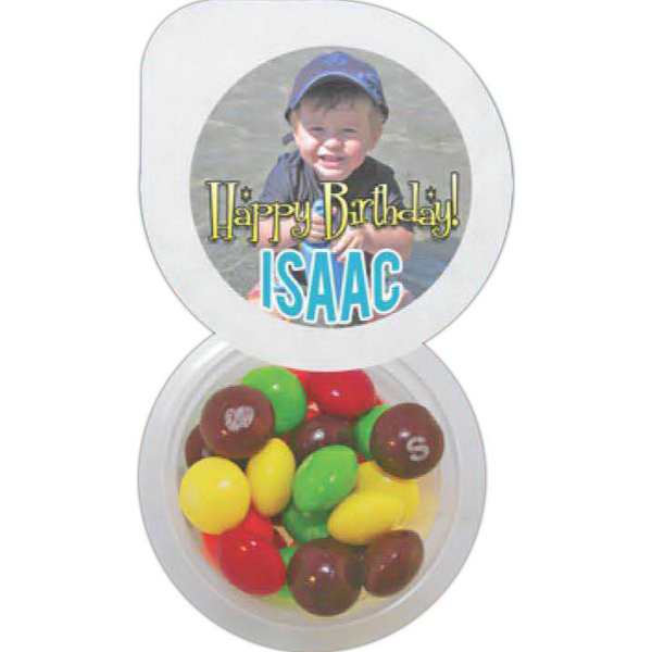 Promotional Small 4 Color Cup of Candy - Chocolate