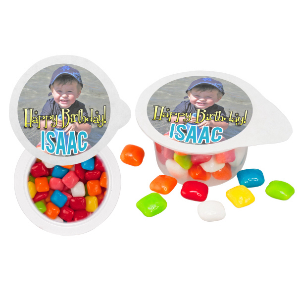 Personalized Small 4 Color Cup of Candy - Hard Candy