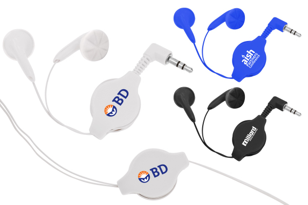 Custom Retractable Ear Buds