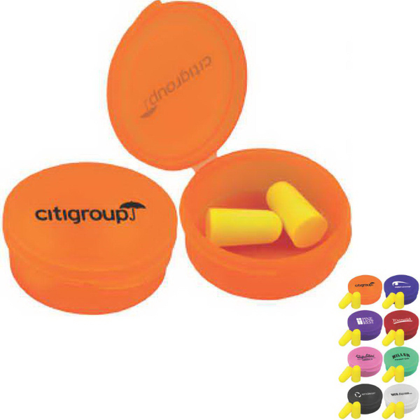 Personalized Ear Protection in Round Case