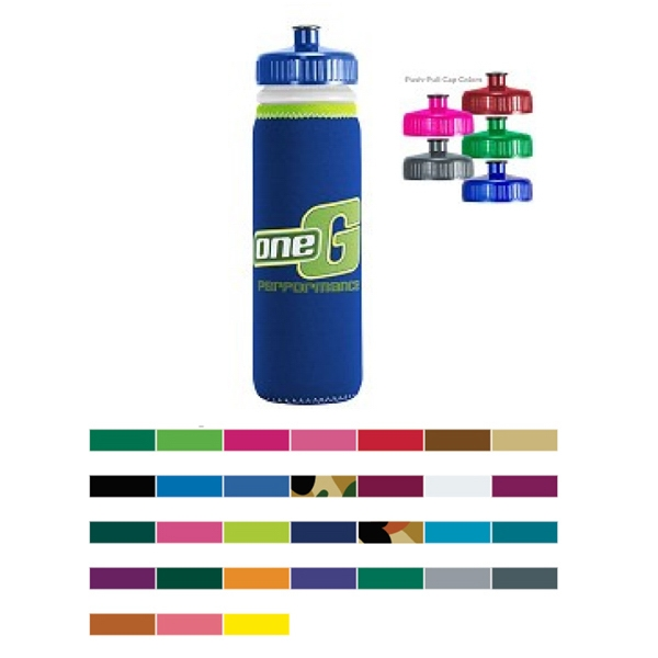 Customized Van Metro Sport Bottle-Push-Pull Cap
