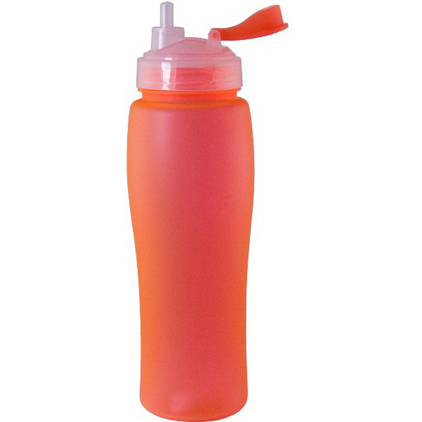 Promotional Rubber Coated Neon Single Wall Bottle