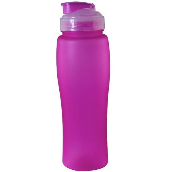 Imprinted Rubber Coated Neon Single Wall Bottle