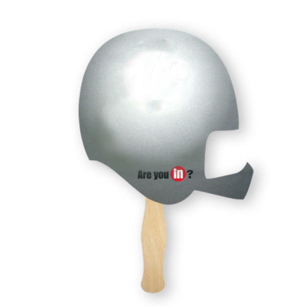 Promotional Fan - Stock Shape Helmet Hand Fan