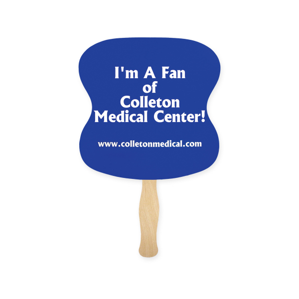 Personalized Fan - Stock Shape Hourglass Hand Fan