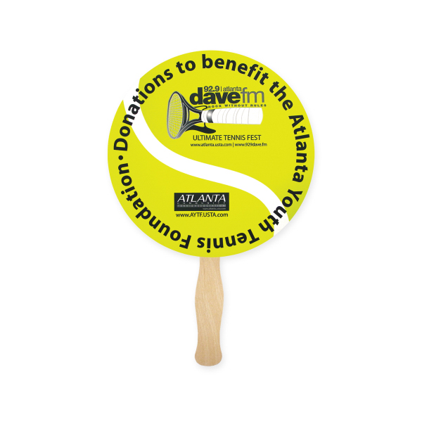 Printed Fan - Stock Shape Round Hand Fan