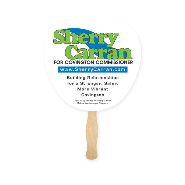 Promotional Fan - Stock Shape Leaf Hand Fan