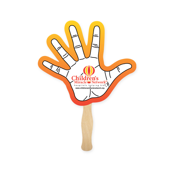 Personalized Hand Shape Hand Fan, Sandwich Style
