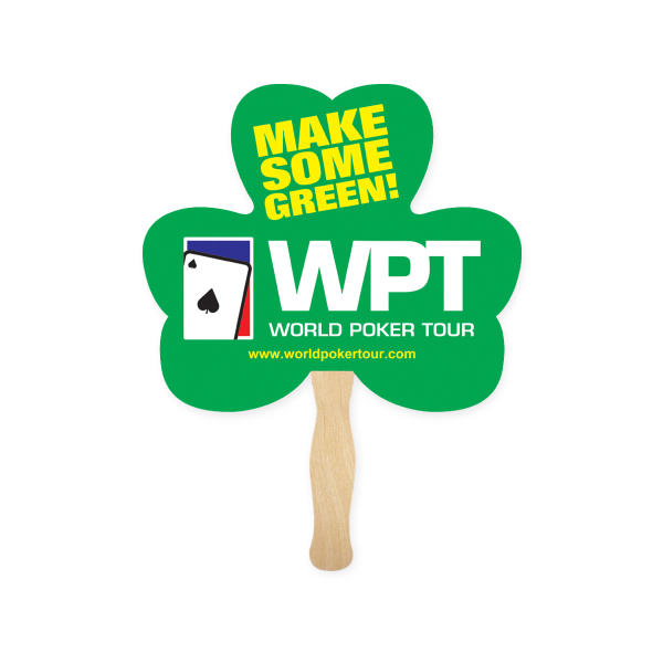 Customized Stock Shape Clover Hand Fan