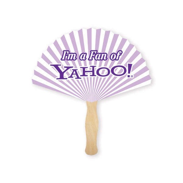 Promotional Stock Shape Round Triangle Hand Fan