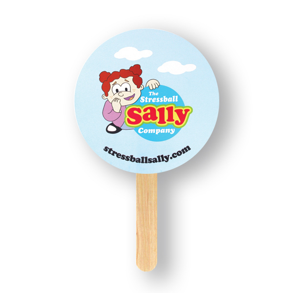 Custom Mini Hand Fan - Round, Sandwich Style