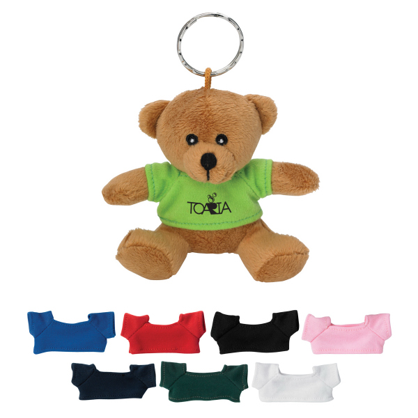 Imprinted Mini Bear Key Chain