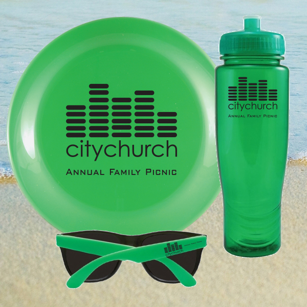 Imprinted BEACH KIT 28 Green