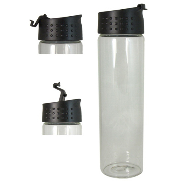 Customized Glass Water Bottle with Flip Top Lid