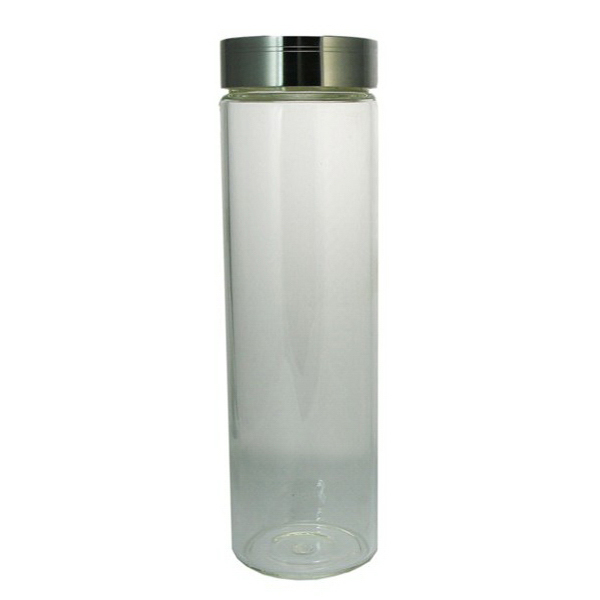 Custom Glass Water Bottle with Stainless Screw Top Lid