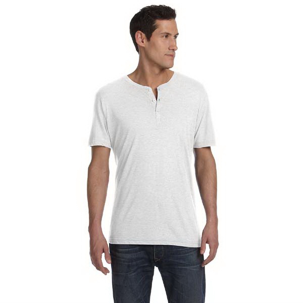 Customized Bella & Canvas Men's Triblend Short Sleeve Henley