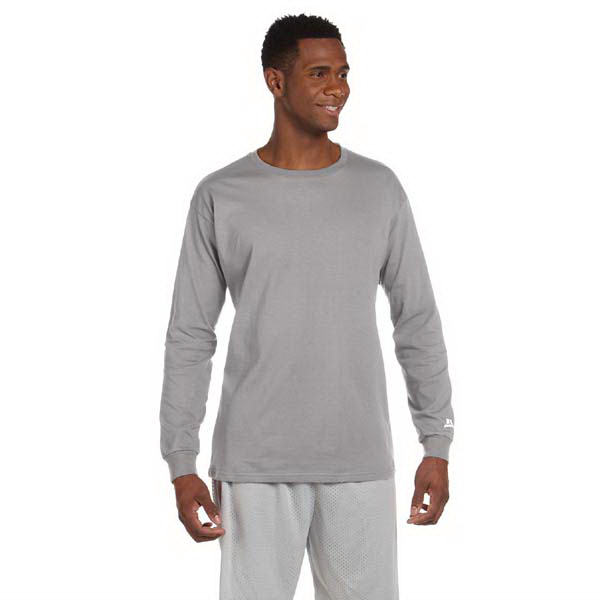 Imprinted Russell Athletic Long Sleeve Cotton T-Shirt