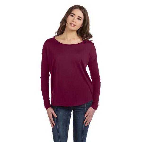 Imprinted Bella & Canvas Ladies' Flowy Long Sleeve T-Shirt