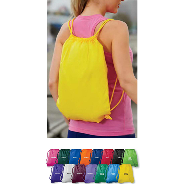 Imprinted Small drawstring backpack