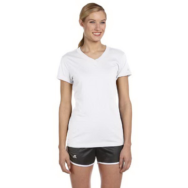 Custom Russell Athletic Ladies' Dri-Power (R) V-Neck T-Shirt