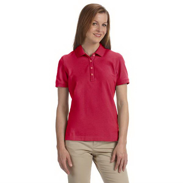 Customized Ladies' combed cotton pique polo