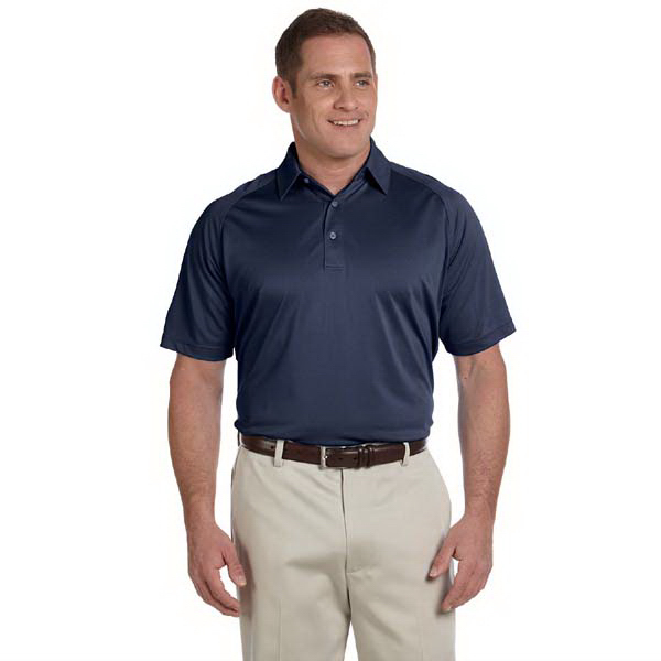 Customized Men's performance wicking pique polo