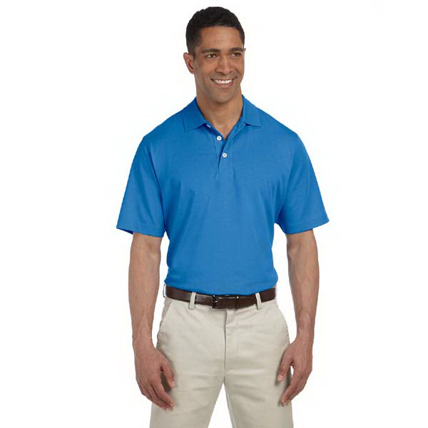 Custom Men's High Twist cotton tech polo
