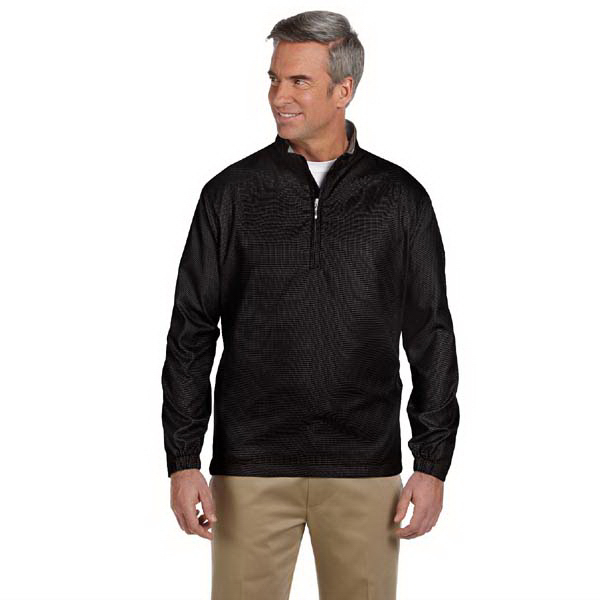 Imprinted Men's houndstooth half-zip jacket