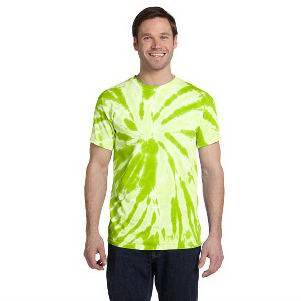 Imprinted 5.4 oz., 100% Cotton tie-dyed adult t-shirt