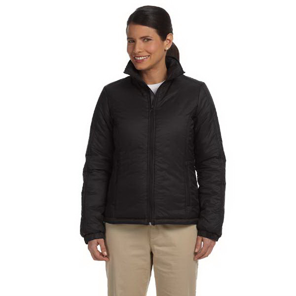 Imprinted Harriton Ladies' Essential Polyfill Jacket