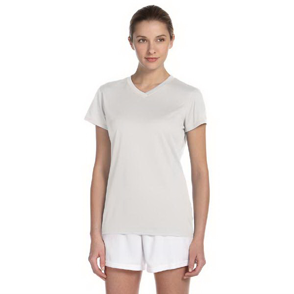 Imprinted New Balance Ladies' Ndurance Athletic V-Neck T-Shirt