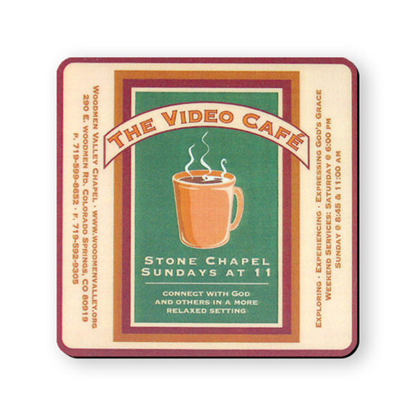 Promotional Coaster - 4 inches square